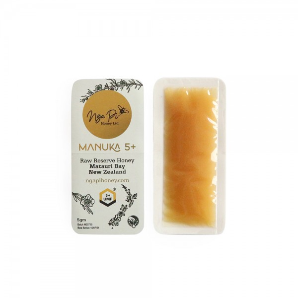 Nga Pi Honey New Zealand Manuka 5+ Honey Sachet